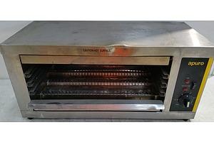 Apuro Electric Quartz Salamander Toaster/Grill