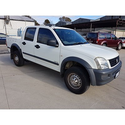 3/2003 Holden Rodeo LX RA Crew Cab P/up White 3.5L