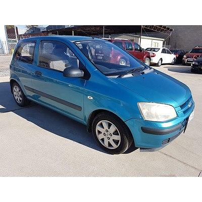 3/2003 Hyundai Getz GL TB 3d Hatchback Blue 1.5L