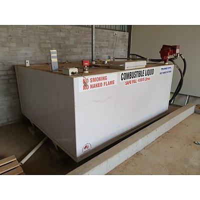 TransTank Self Bunded 4000L Liquid Storage Tank with Fill Rite Pump (Has Diesel Currently)