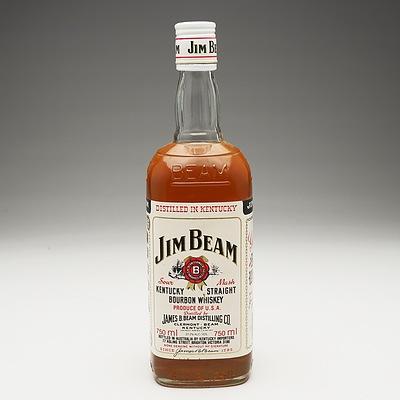 Jim Beam White Label Kentucky Straight Bourbon Whiskey  750ml
