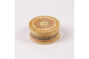 Small Indian Ivory Pill Box