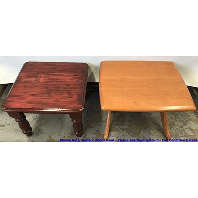 Side Tables -Lot Of Two