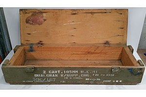 Military Ammunition Boxes Lot Of Two