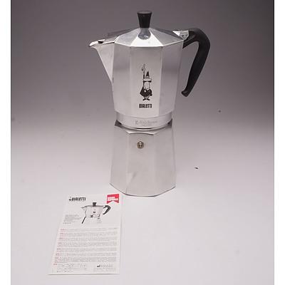 Bialetti Moka Express Coffee Percolator with Instructions