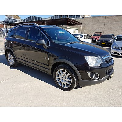 12/2012 Holden Captiva 5 (4x4) CG SERIES II 4d Wagon Black 2.2L