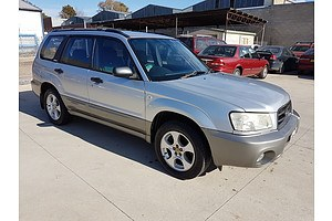 2/2003 Subaru Forester XS MY03 4d Wagon Silver 2.5L