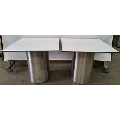Custom Made Office Tables -Lot Of Two
