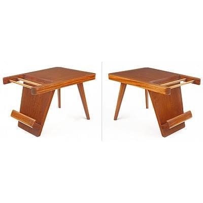 Sri Lankan Modernist Pair of Side Tables, Terry Jonklaas Commission Circa 1948