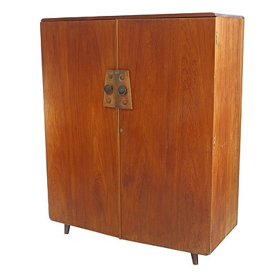 Sri Lankan Modernist Small Low Wardrobe, Terry Jonklaas Commission Circa 1948 (One of a Pair)