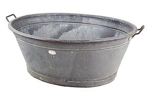 Antique Tin Wash Tub