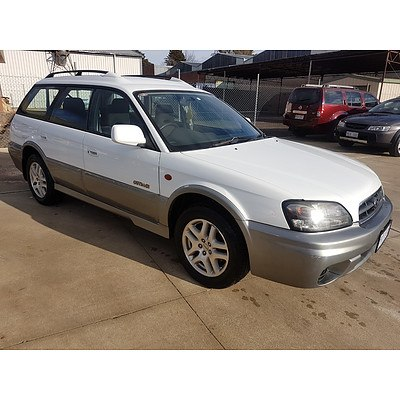 7/2002 Subaru Outback  MY02 4d Wagon White 2.5L