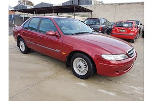 10/1996 Ford Fairmont  EL 4d Sedan Red 4.0L