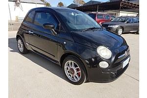 10/2009 Fiat 500 Sport  3d Hatchback Black 1.4L