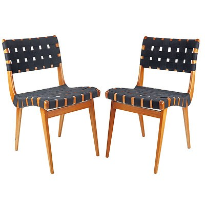 Original Douglas SNELLING (1916-1985) Two Line Dining Chairs, Designed 1946