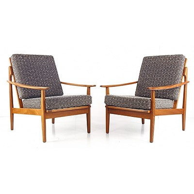 Fred LOWEN (1919-2005) Pair of Armchairs, Manufactured Circa 1960 by Fler
