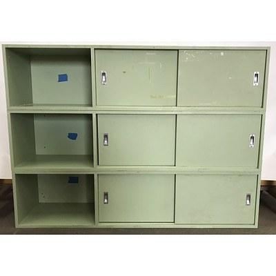 Three Piece Stackable Storage/Locker Unit