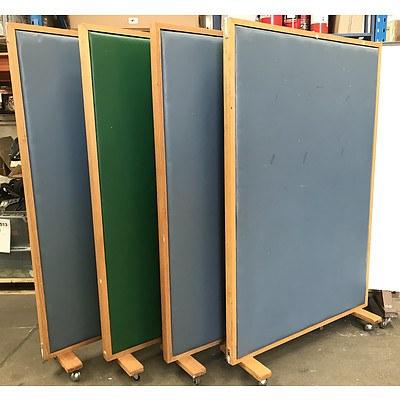 Coloured Vinyl Partitions -Lot Of Four