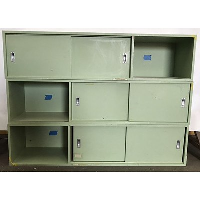Three Piece Stackable Storage/Locker Unit