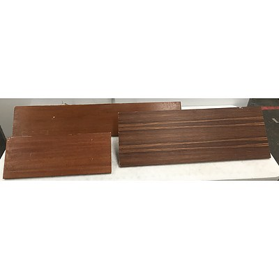 Wall Mounted Shelves -Lot Of Three