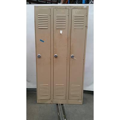 Brownbuilt Personal Lockers - Bay of Three