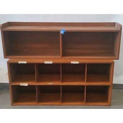 Pigeon Hole Unit and Shelving Hutch
