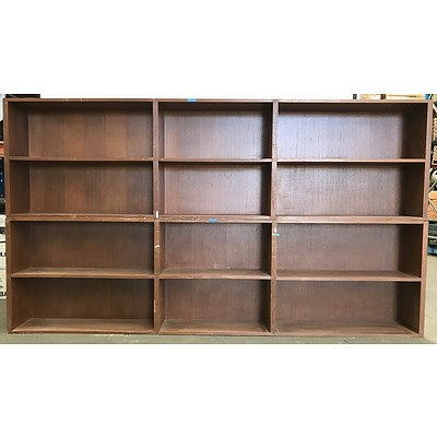 Two Piece Stackable Storage Shelf