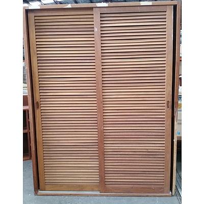 Louvered Sliding Door Cabinet