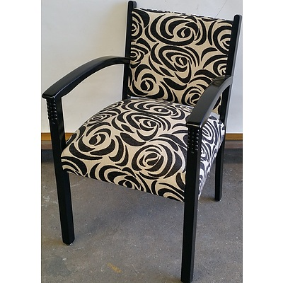 Black and White Bridge Chair