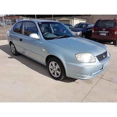 4/2004 Hyundai Accent 1.6 LS 3d Hatchback Blue 1.6L