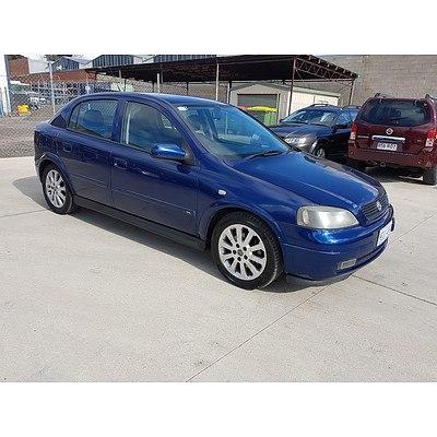 2/2004 Holden Astra CDX TS 4d Sedan Blue 1.8L