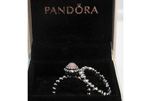 Pair of Pandora Sterling Silver Rings