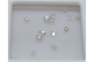 Collection If 13 Old-Cut Diamonds, Mostly Rose-Cut And Mine-Cut