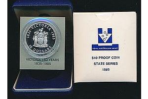 Australia: $10 Silver Proof 1985
