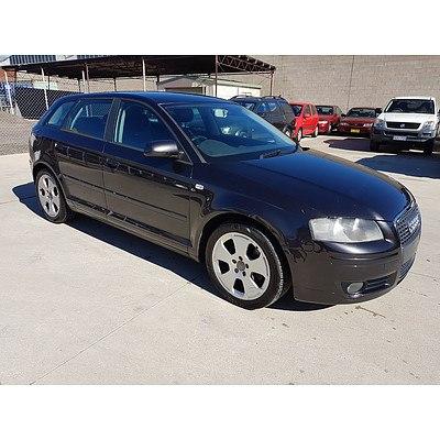 6/2005 Audi A3 Sportback 2.0 FSI Ambition 8P 5d Hatchback Grey 2.0L