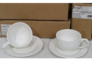 18 x Lumina Ceramic Cups and 12 x Saucers  - Brand New