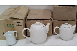 Ceramic Teapots and Creamer Jugs - Lot of 22 - Brand New