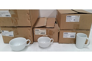 Olympia Whiteware Commercial Cups and Mugs - Lot of 59 - Brand New