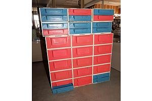 Vintage Star Industries Moulded Plastic Modular Storage Drawer Sets