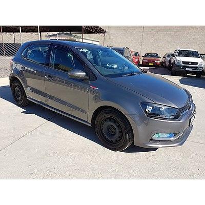 7/2015 Volkswagen Polo 66 TSI Trendline 6R MY15 5d Hatchback Grey 1.2L - Stat w/o