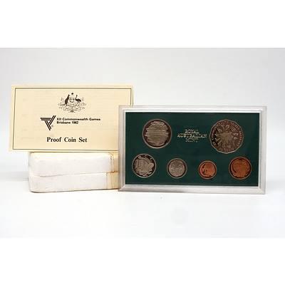 1982 XII Commonwealth Games Brisbane Royal Australia Mint Proof Coin Set
