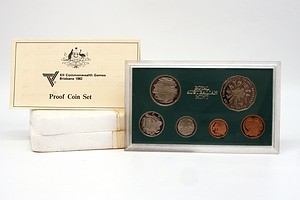 1982 XII Commonwealth Games Brisbane Royal Australia Mint Proof Coin Set