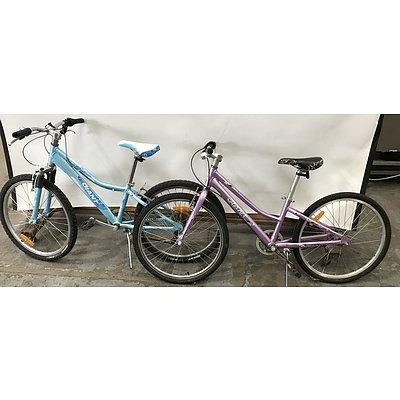 Giant Areva and Veer Childrens Bikes