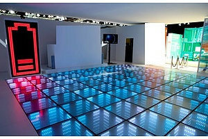 Sustainable Danceclub  7.5 Square Meters of Illuminated 3D Interactive Dance Floor Panels