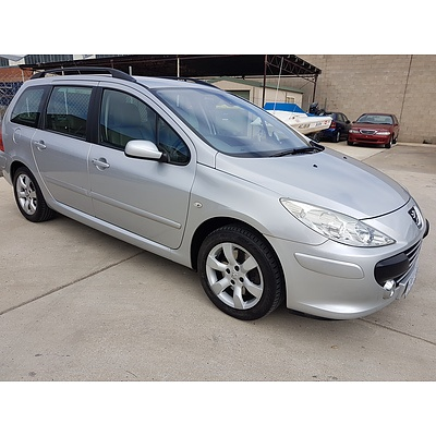7/2007 Peugeot 307 XSE HDi 2.0 Touring 4d Wagon Silver 2.0L
