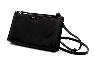 Genuine Hugo Boss Black Leather Taylor Mini Bag