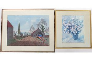 11 Framed Prints of Various Subjects and Styles