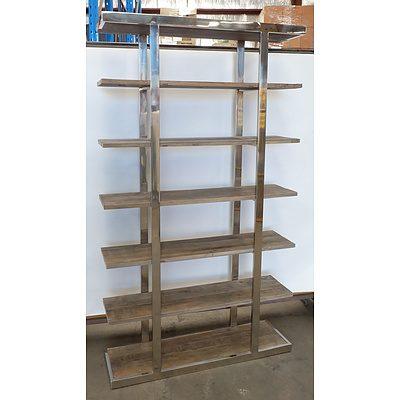 Seven Tiered Rustic Shelf Unit