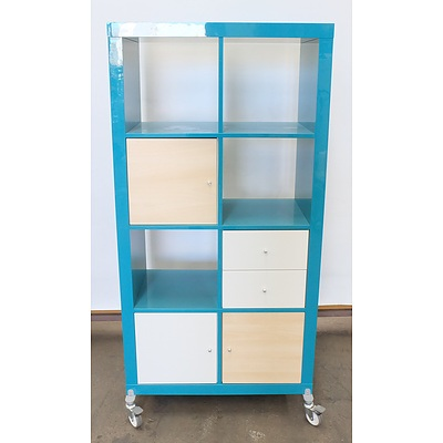 Aqua Rolling Shelf Unit