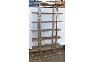 Seven Tiered Rustic Shelf Unit